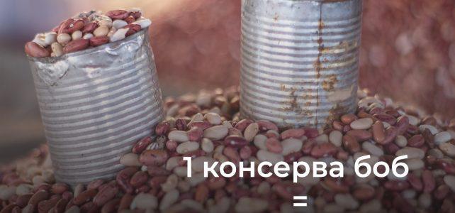 1 консерва боб = две яденета